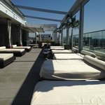 The rooftop lounge area