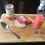 The Rhubarb selection pudding
