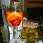 Le Spritz with peanuts & olives - Just as delicious as it looks!