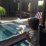 pool view baby crib