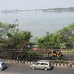 The view of Hussein Sagar from the hotel terrace.