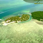 View from seaplane - Little Palm Island