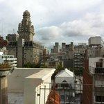 вид из ресторана на крыше отеля