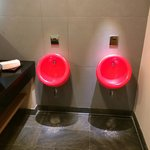 Bright Red Urinals !