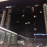 The hotel facade photo taken from across the road at the CTICC