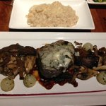 Grilled Cedar River Filet Mignon with Caramelized Cauliflower Parmesan Risotto