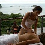 Massage on the sun deck