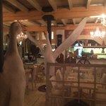 Goose in the restaurant.