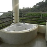 jacuzzi tub on terrace of master suite
