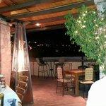 Terraza techada del restaurante