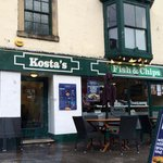 Kostas in the rain