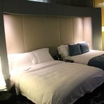 Double king sized bed in 13th floor room