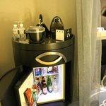 Nespresso Coffee station and Minibar