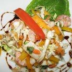 Squid shrimp and calamari daughter loved it