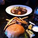 bangers & mash, fish sandwich