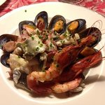 mixed seafood platter... simple yet delicious
