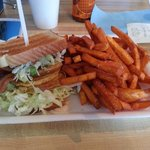 Fried Green BLT and Sweet Potato Fries