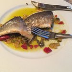 Sea bass...couldn't get a picture whole because I tore into it, completely cleaned my plate and
