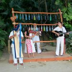 Local musicians played as we arrived
