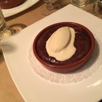 The absolute best thing I have ever eaten...I believe it's name was chocolate fondant...divine!!