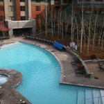 heated outdoor pool and hot tubs