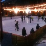 Ice rink outside of hotel