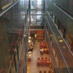 Dining area between buildings