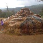 Pinkerton hot spring; a cool geologic phenomenon.