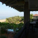 Half of the balcony