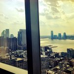 One bedroom executive suite living room view of one world trade day time floor 41