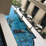 Infinity pool in central courtyard