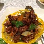 Black pepper duck - delicious.