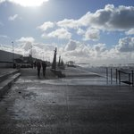 Mid-winter and the famous foam of Cleveleys