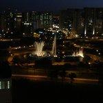 Vista do apartamento à noite