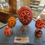 Painted eggs in museum