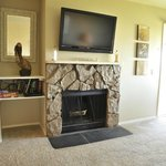Fireplace in One Bedroom Condo