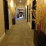 Hallway towards relaxation room