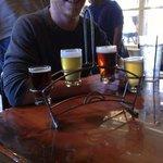 beer sampler from Riff Raff Brewing