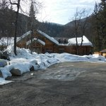 The main lodge in March