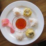 sampler - shrimp and pork