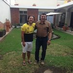 With Carlos the owner