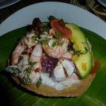 Seafood Tostada