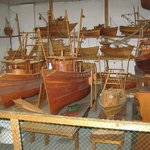 Some of Capt. Singleton's handmade boats.