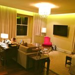 The living room in our King Suite