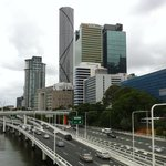 The Meriton is an imposing building - view from Victoria Bridge