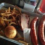 Brisket, Louisana Hot Links, Cajun Fries, Cornbread, Sweet Tea