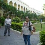 The Taramati Hotel with a nice garden.