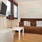 single room with sleeping sofa