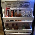 The mini bar inside the fridge, charge you digitally ;)
