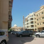 the view of mosque from my room